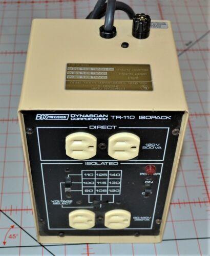 1) BK Precision Model TR-110 Isopack Isolation Transformer