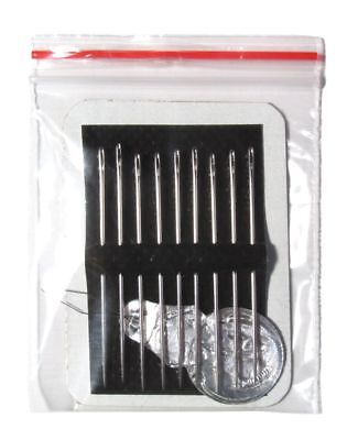 Sharps Hand Needles - 9 hand sewing needles, size 5 sharps & threader, best quality, easier threading!