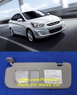 For 2012~  HYUNDAI ACCENT VERNA SOLARIS SUN VISOR DRIVER SIDE GRAY(Trim code 8M)