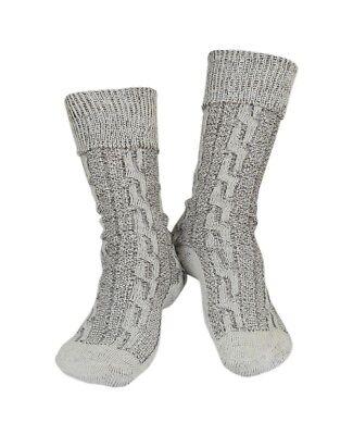 Oktoberfest Lederhosen German Bavarian Men's Beige Brown Mix Socks Pairs - Lederhosen Socks
