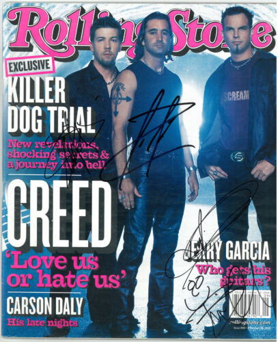 Creed The Band signed 2002 Rolling Stone Magazine 3 sig - Beckett Review