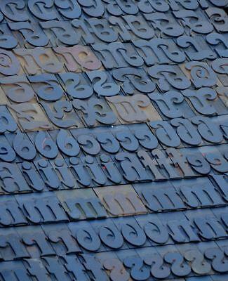 Letterpress Wood Printing Blocks 181pcs 2.13 Tall Wooden Type Woodtype Alphabet