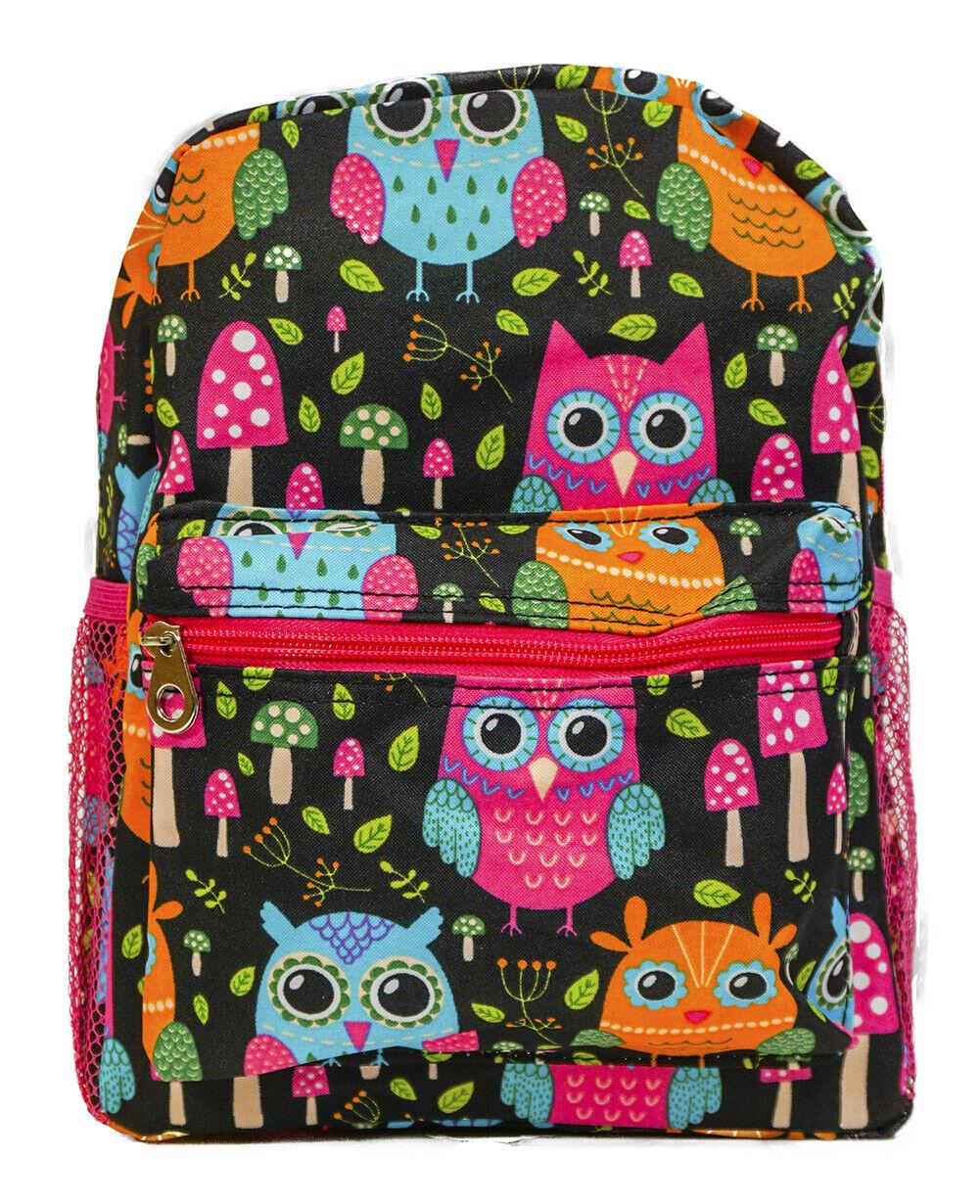 Girls Cute Owl Mini Toddler Backpack Bag For Preschool Kinde
