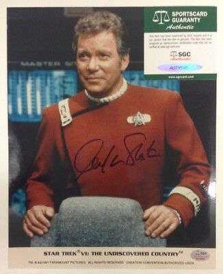 William Shatner Captain Kirk STAR TREK Signed Color Photo SGC COA Autograph