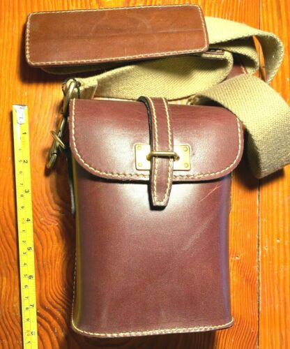 MULHOLLAND BROTHERS BINOCULAR CASE SHOULDER STRAP STOUT LEATHER MADE IN USA