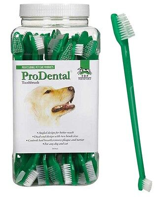 WHOLESALE LOT 50 DOG CAT Dual End TOOTHBRUSHES Toothbrush Mouth Dental Oral Care