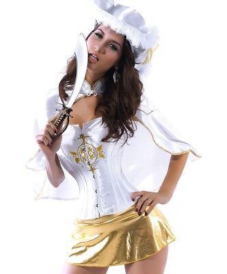 Underwear Halloween Costume (Sexy Lingerie Musketeer Halloween Costume Sleepwear Underwear Nightwear M - L)