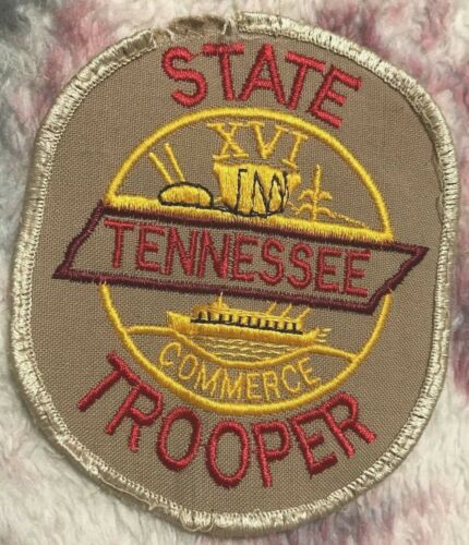 "vintage ""TENNESSEE STATE TROOPER"" PATCH tn LAW ENFORCEMENT OFFICER patrol/police"