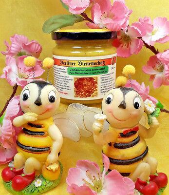 3,98€/100g Berliner Bienenschatz,250g Honig-Mix m.Pollen, Gelee Royal, Propolis  - Pollen, Gelee Royal