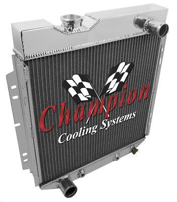 "CHAMPION 3 ROW ALUMINUM RADIATOR 16/"" FAN 65 66 FORD MUSTANG V8 SWAP FALCON COMET"