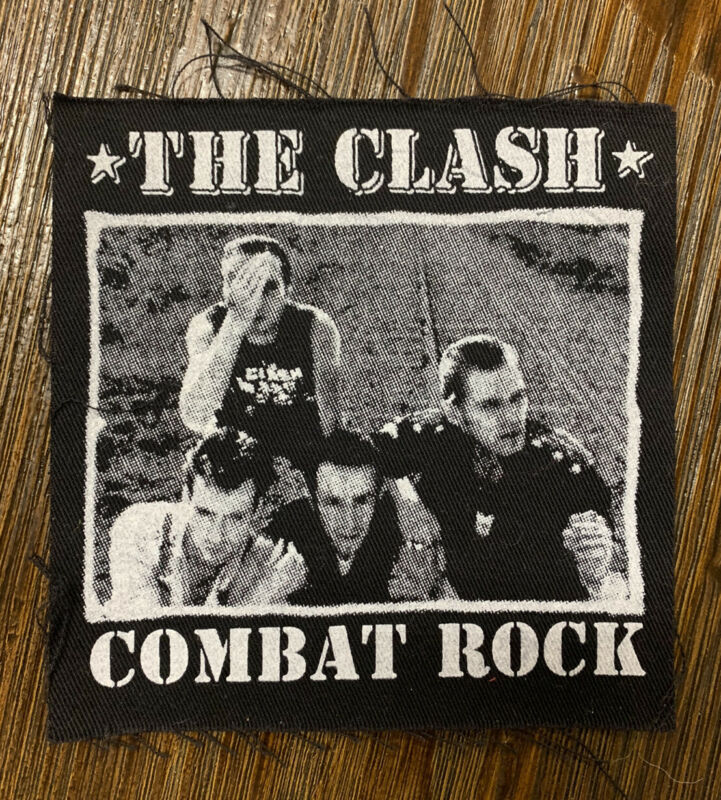 "The Clash ""Combat Rock"" Album 💿 Cover Canvas Punk Style Patch"
