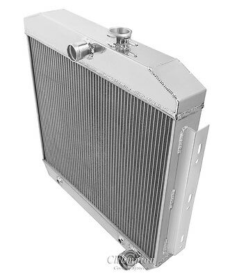 AS Champion 3 Row Core All Alum Radiator For 1955 56 57 Chevrolet Cars with V8 M