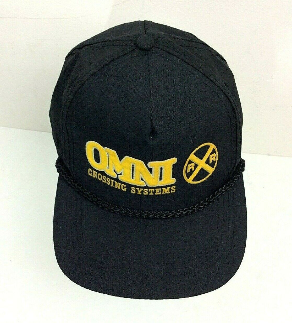 OMNI Crossing Systems Railroad Cap Hat Snap Back. Vintage new old stock