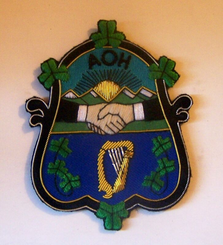 Ireland Irish Celtic Heraldry AOH Parade Erin County Clan Club Hibernian Patch H