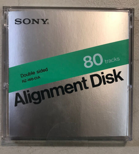 """ANALOG ALIGNMENT DISK By Sony RZ-W8-01A For 3 1/2"""" 80 Track Disk Drive 3.5"""" NEW"""