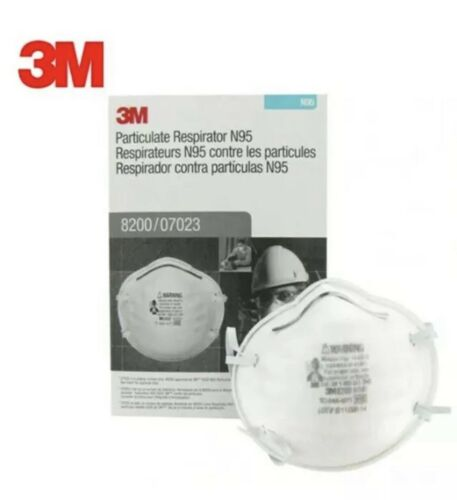 3 M Pack of 20 New Protective Mask N Grade 95 Never Opened 2025 Expiration