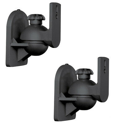 Satellite Speaker Wall - 2 Pack Lot Pair Satellite Speaker Black Wall Mount Brackets for Bose Jewel Cube