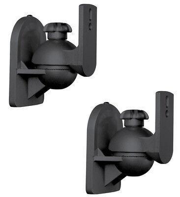 2 Pack Lot Pair Satellite Speaker Black Wall Mount Brackets