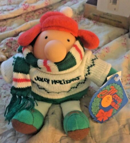"ZIGGY ""JOLLY HOLIDAYS"" PLUSH FIGURE WITH ORIGINAL TAGS DATED 1991 ZIGGY"