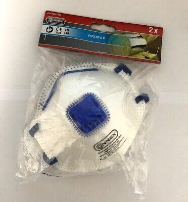 2x Connex FFP2 NR D V Geruchschutzmaske