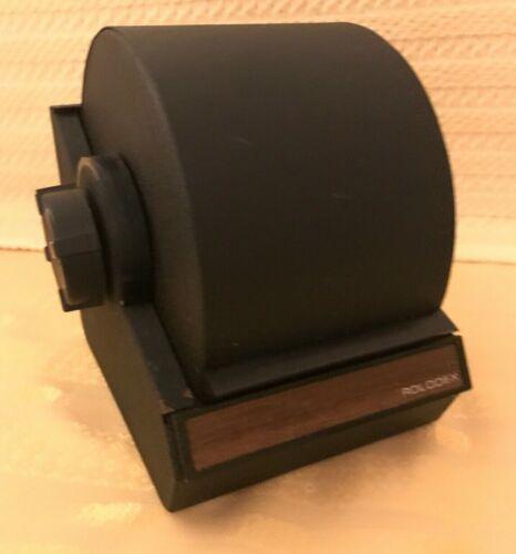 Rolodex Metal Black Brown Model 5350 Rotary Card File Vintage