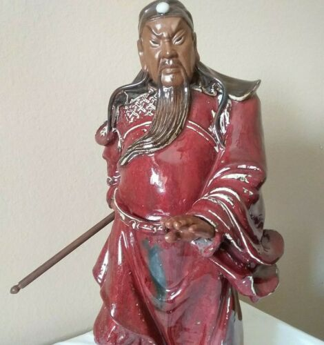 Antique Vintage Chinese Hand Made Guandi ShiWan War God Signed Figurine Statue