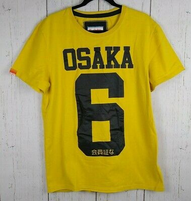Superdry Men's Osaka 6 Yellow Tee XXL