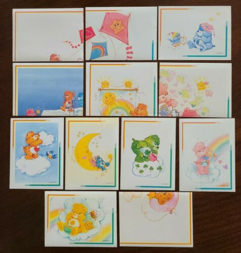 12 Different Care Bears Album Stickers 1994 - Good Luck, Bedtime, Funshine Bear