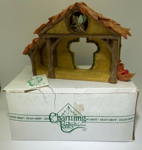 """Charming Tails """"CHRISTMAS PAGEANT STAGE"""" Nativity Figurine By Dean Griff BOX"""