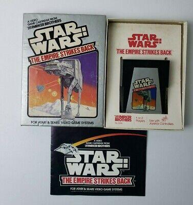 Star Wars: The Empire Strikes Back (Atari 2600, 1982) With Box, Manual CIB