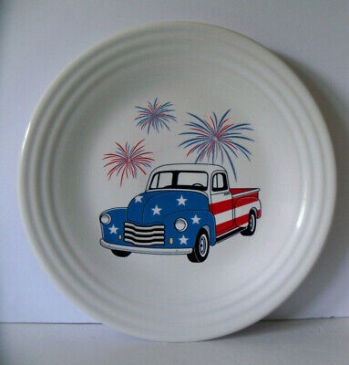 Fiesta TRUCK AMERICANA Fourth of July Fireworks Decal Luncheon plate NEW w/Tag](Fourth Of July Plates)