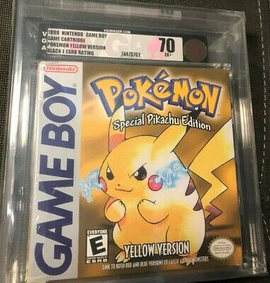 Nintendo GameBoy Pokemon Yellow Version VGA Graded 70