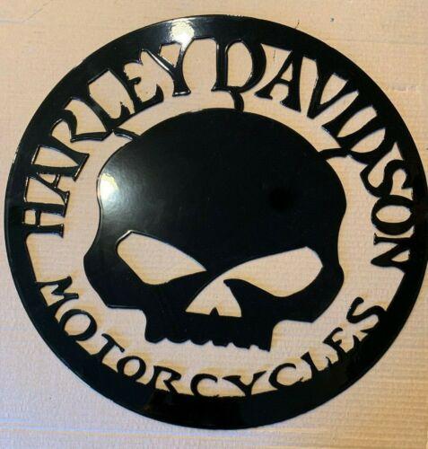 "15"" Large Harley Davidson Skull Metal Wall Art"