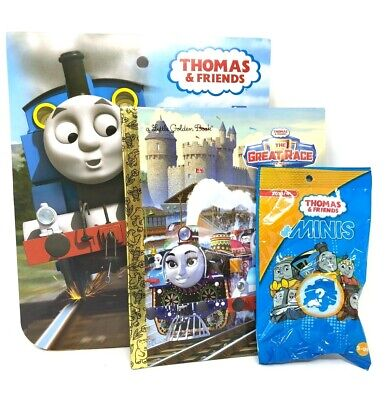 Thomas the Train Engine Activity Bundle Set Mystery Figure, Story book, Stickers