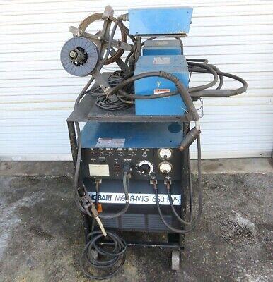 Hobart Mega-mig 650-rvs 3 Phase W 2 Hobart 2000 Wire Feed Two Gun