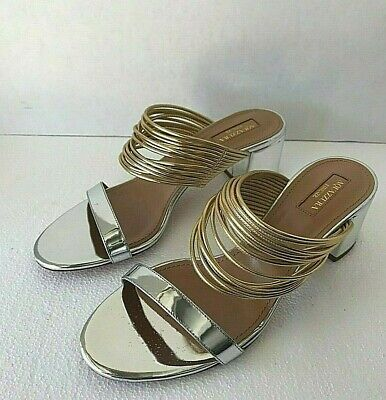 AQUAZZURA FIRENZE RENDEZVOUS SANDAL SHINY METALLIC OPEN TOE