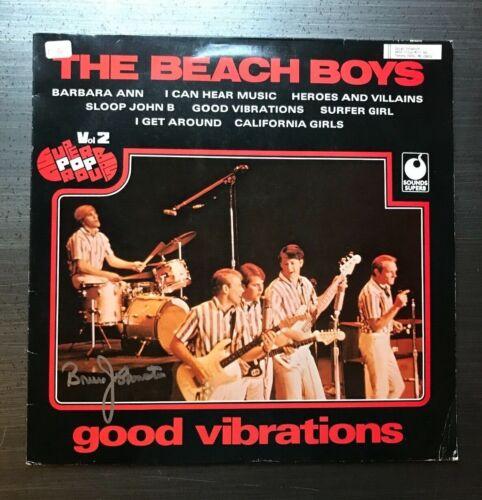 * BRUCE JOHNSTON * signed vinyl album * THE BEACH BOYS *GOOD VIBRATIONS* PROOF 4