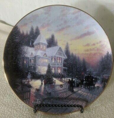 Thomas Kinkade The Magic of Christmas Limited Edition Collector Plate