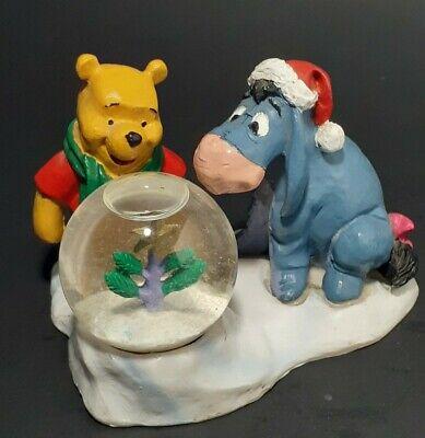 Disney WINNIE THE POOH And EEYORE Seasonal Specialties Snow Globe