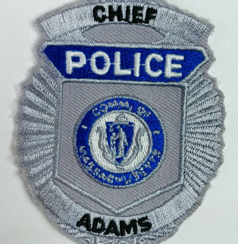 Adams Police Chief Berkshire County Massachusetts MA Patch A1