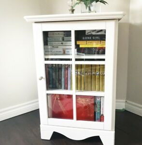 TV Media Cabinet/Book Storage (White)