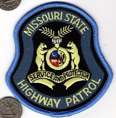 POLICE PATCH MISSOURI STATE HIGHWAY PATROL Cloth shield badge MO Bear Crest