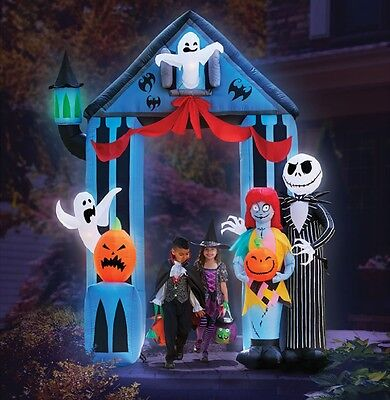 HALLOWEEN INFLATABLE 9' JACK SKELLINGTON NIGHTMARE BEFORE CHRISTMAS - Halloween Inflatable Archway