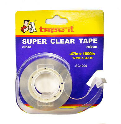 144 Rls - Transparent Tape - .47 X 1000 Dispenser Sc1000
