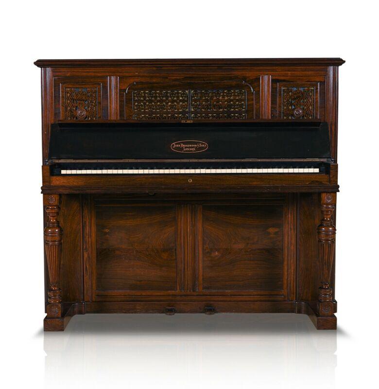 Victorian Style Antique John Broadwood & Sons Upright Piano