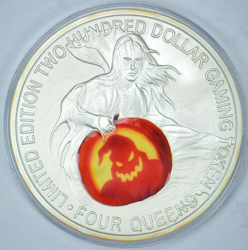 Four Queens Casino 2007 1lb silver $200 Silver strike  The Witch