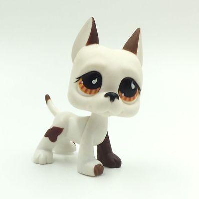 Littlest Pet Shop Dog White Great Dane LPS Cute Toys Puppy