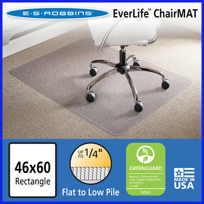 No Tax Es Robbins Chair Mat For Flatlow Pile Carpet 46 X 60 No Lip Clear