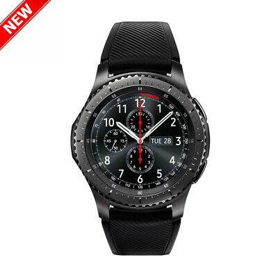 "Samsung Gear S3 Front line SM-R760 1.3"" AMOLED Bluetooth Border Strap Smartwatch"