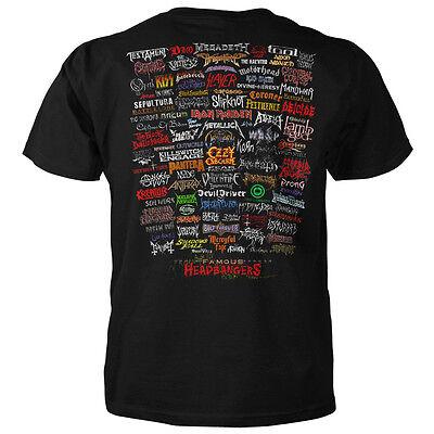 Famous Headbangers T Shirt  Metallica  Anthrax  Kiss  Prong  Korn  Black Sabbath